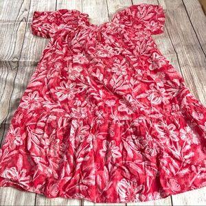 Vintage floral print dress Kaftan Beach Cover up